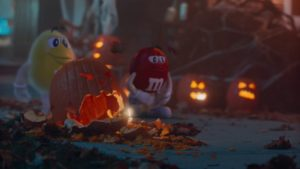 m&m halloween marketing campaigns